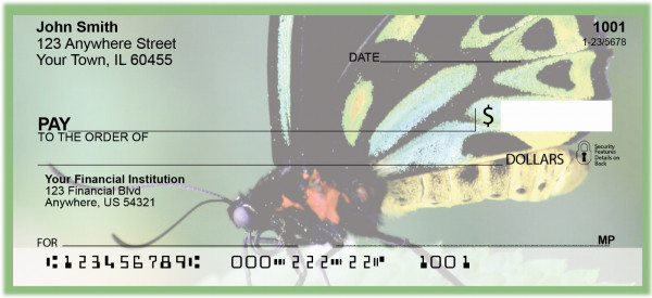 Nature's Artwork - Butterflies Personal Checks | CCS-66
