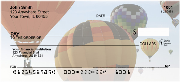 Hot Air Balloons in Flight Personal Checks | CCS-75