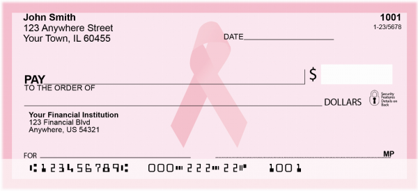 Pink Ribbon Personal Checks | CHA-01