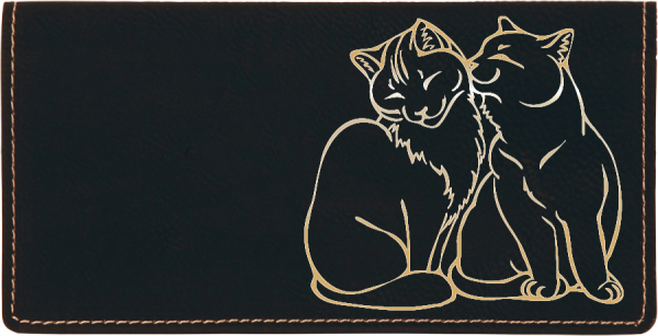 Purrfect Love Engraved Leather Cover | CLE-00001