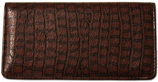 Reptile Brown Textured Leather Cover | CLP-BRN07