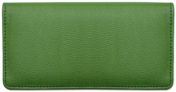 Green Textured Leather Checkbook Cover | CLP-GRN03