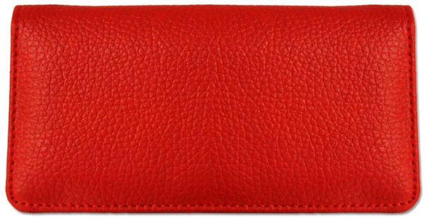 Red Textured Leather Checkbook Cover | CLP-RED03