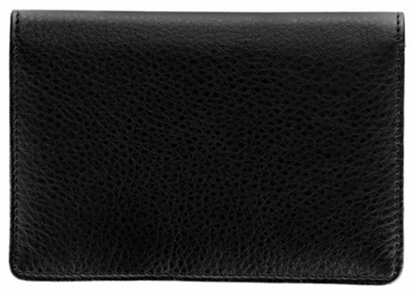 Black Leather Top Stub Checkbook Cover | CLW-BLA01