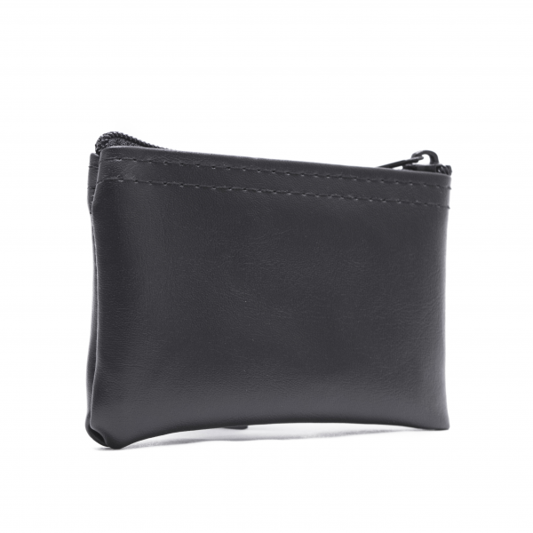 Black Zipper Wallet  3 X 4.5 | CUR-005