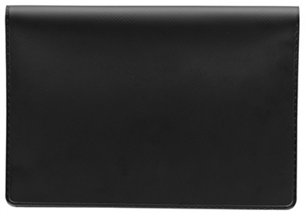 Black Vinyl Top Stub Checkbook Cover | CVW-BLA01