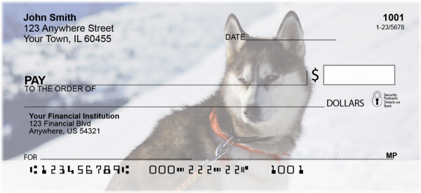 Siberian Husky Personal Checks | DOG-110