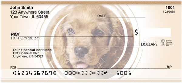 Cocker Spaniels Personal Checks | DOG-13