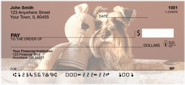 Snugly Schnauzer Personal Checks | DOG-77