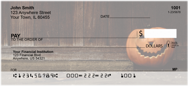 Jack-O-Lanterns Personal Checks | FUN-72