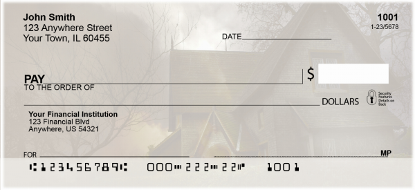Haunted Houses Personal Checks | FUN-78