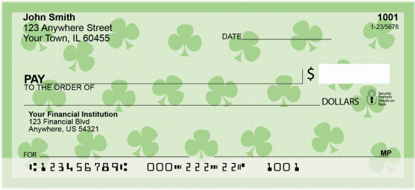 Shamrocks Personal Checks | GEO-06