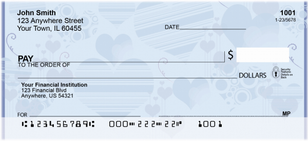 Love Symbols Personal Checks | GEO-25