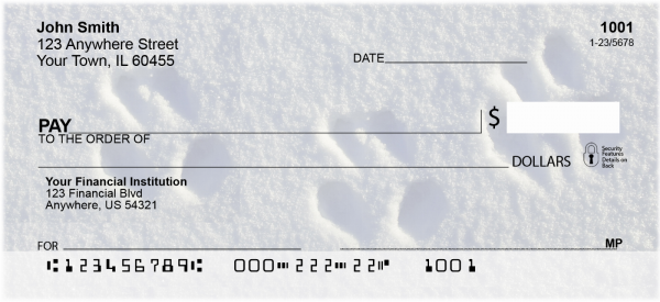 Animal Tracks in the Snow Personal Checks | GEO-30