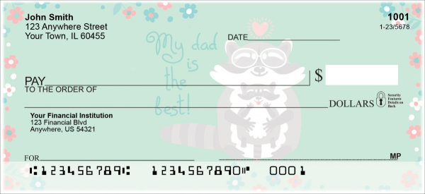 Dad is the Best Personal Checks | LOV-27