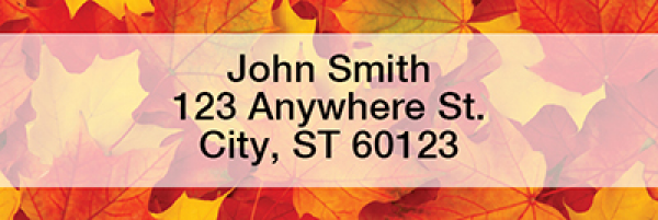 Fall Leaves Rectangle Address Labels | LRFUN-76