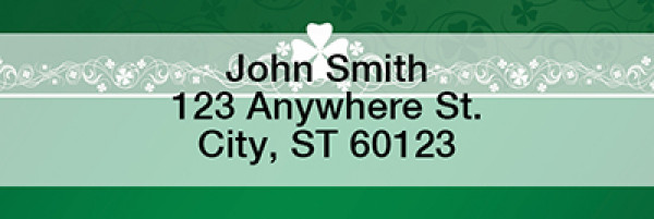 Irish Border Narrow Address Labels | LRTVL-17