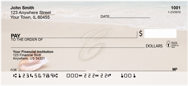 Sand Written Monogram C Personal Checks | MONO-07C