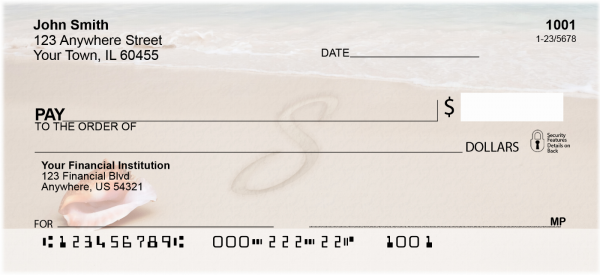 Sand Written Monogram S Personal Checks | MONO-07S