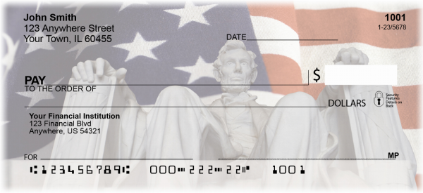 Lincoln Memorial Personal Checks | PAT-06