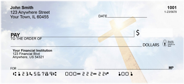 Serene Christian Crosses Checks | REL-35