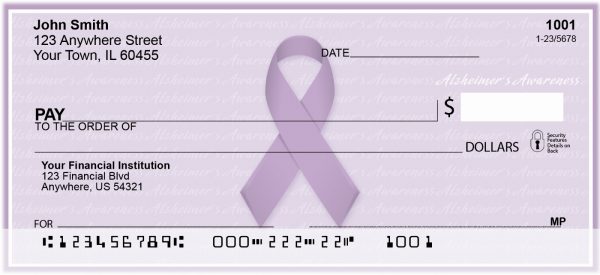 Alzheimer's Awareness Ribbon Personal Checks | RIB-05