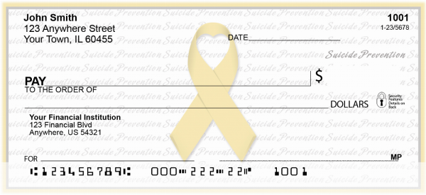 Suicide Prevention Ribbon Checks | RIB-26