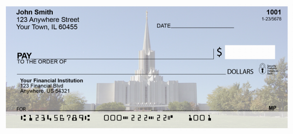 Jordan River Temple Personal Checks | TEM-04