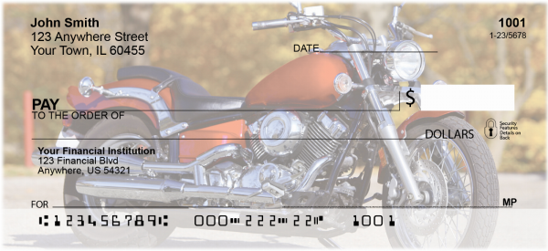 Cruising Motorcycles Personal Checks | TRA-A9