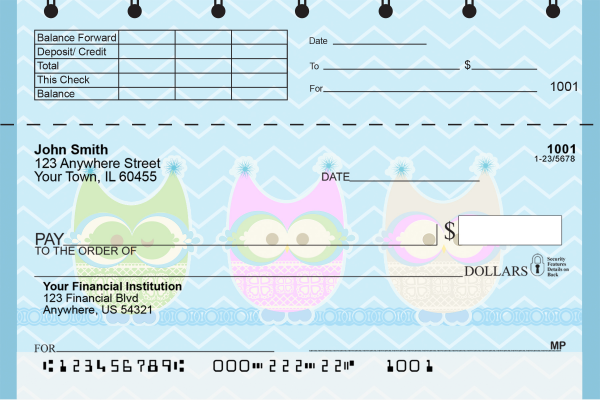 Give a Hoot Top Stub Checks | TSANI-003