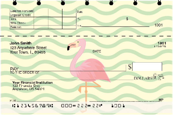 Wading Flamingos Top Stub Checks | TSANI-011
