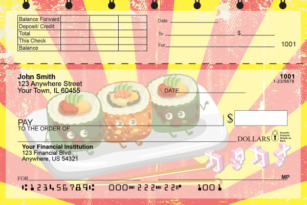 Sushi Time Top Stub Personal Checks | TSFOD-69