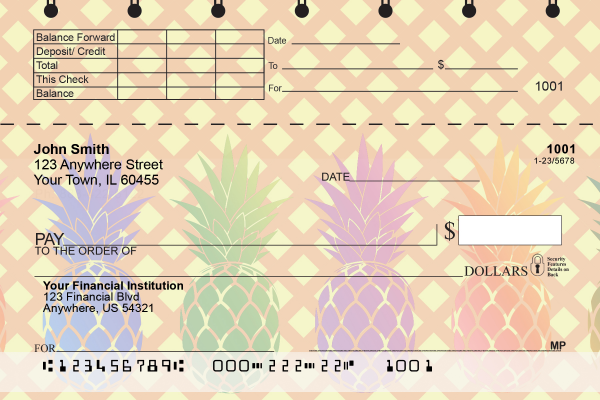 Pineapples Top Stub Personal Checks | TSFOD-70