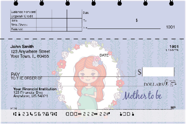 Mother to Be Top Stub Personal Checks | TSLOV-23
