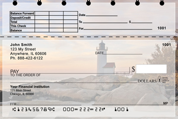 Lighthouses Scenic Views Top Stub Personal Checks | TSSCE-81