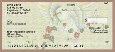 Peaceful Visitor Personal Checks by Lorrie Weber