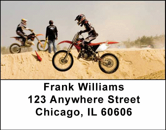 Motorcross Cycles Address Labels